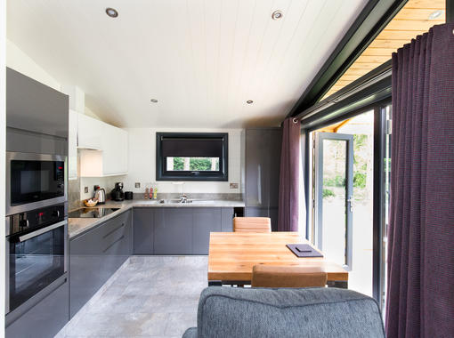 open plan dining and kitchen area