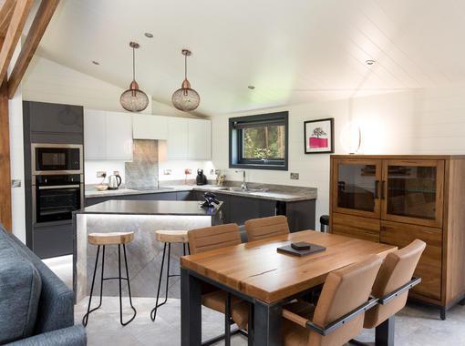 Modern dining & kitchen area