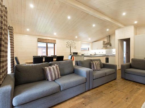 Modern lounge with comfortable sofas