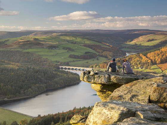 View of Ladybower reservoir