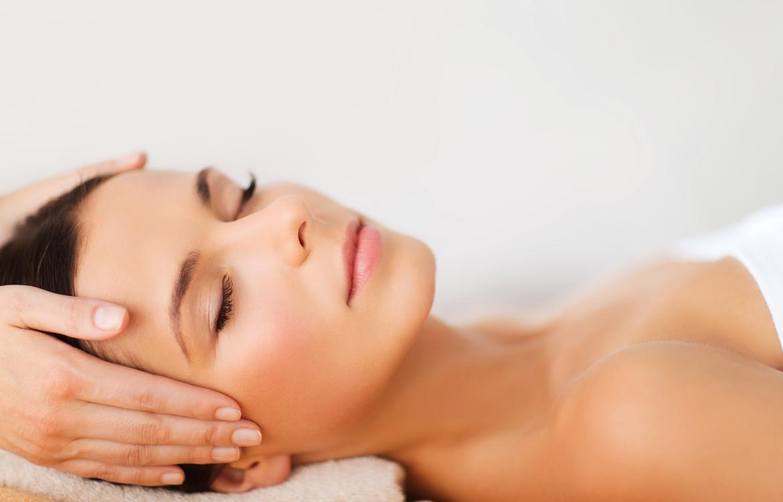 Lady having massage