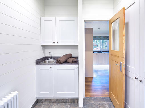 Utility room with stable door