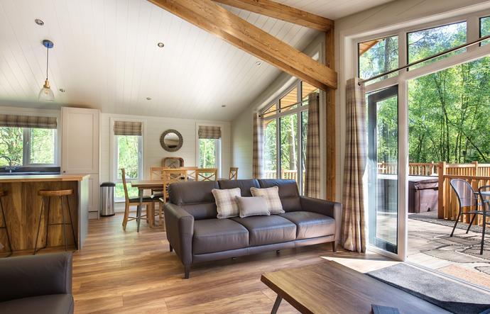 living area of luxury lodge