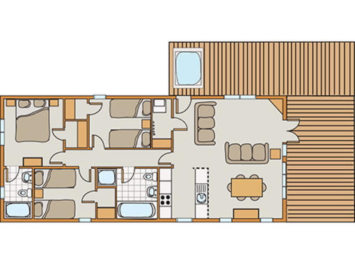Floor plan of Skyline view spa