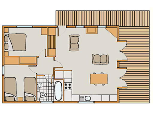 Floor plan of Chatsworth Elite Vogue