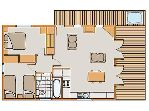 Floor plan of Chatsworth Elite Vogue 2 spa