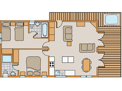 Floor plan of Chatsworth Elite Vogue 2 Spa Plus