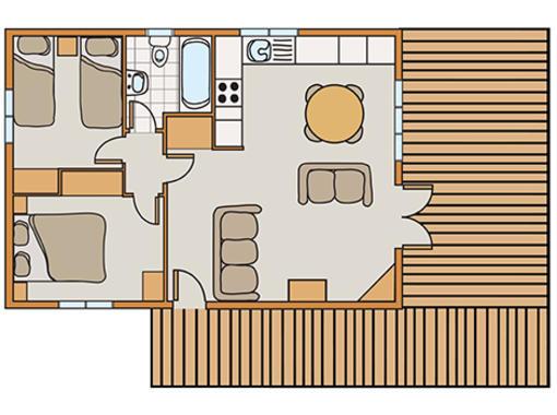 Floor plan of Haddon Classic Vogue
