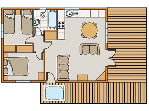 Floor plan of Haddon Classic Vogue 2 Spa