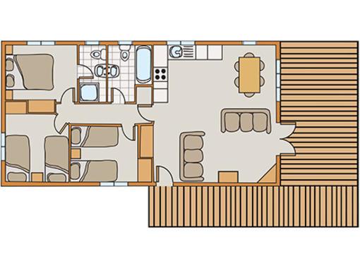 Floor plan of Haddon Classic Vogue 3