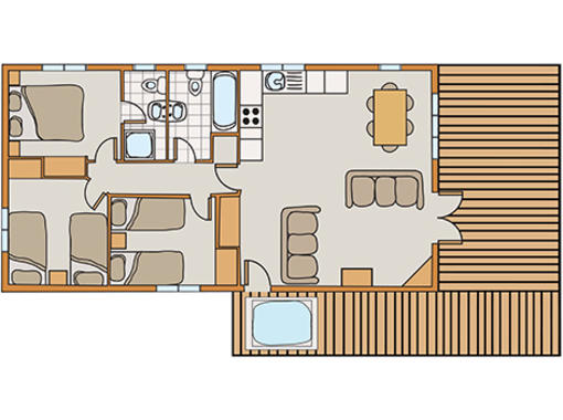 Floor plan of Haddon Classic Vogue 3 Spa