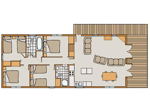 Floor plan of Haddon Classic Vogue 4
