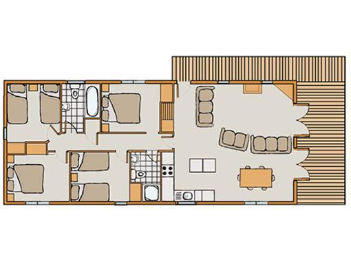 Floor plan of Haddon Classic Vogue 4