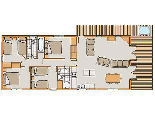 Floor plan of Haddon Classic Vogue 4 spa 4