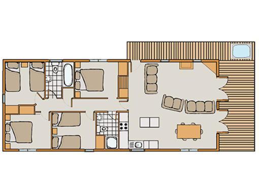 Floor plan of Haddon Classic Vogue 4 spa 4