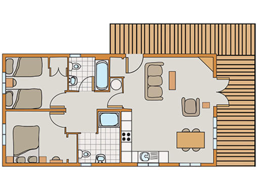 Floor plan of Haddon Classic Vogue 2 wheelchair friendly