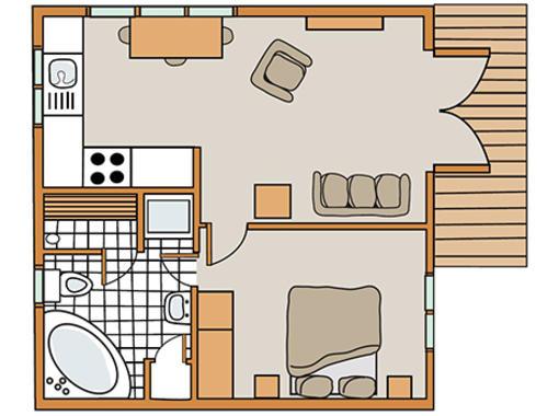 Floor plan for Haddon Classic skyline 1