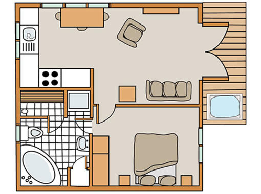 Floor plan for Haddon Classic Skyline 1 Spa