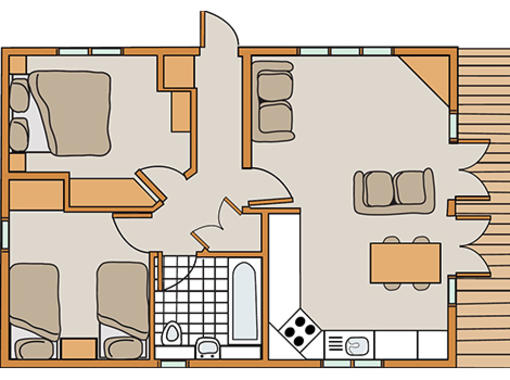 Floor plan for Haddon Classic Skyline 2