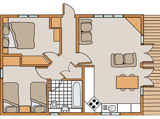 Floor plan for Haddon Classic Skyline 2