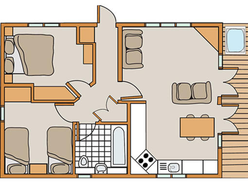 Floor plan for Haddon Classic Skyline 2 Spa