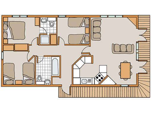 Floorplan of Haddon Classic Skyline 3