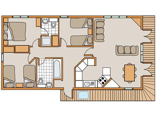 Floor plan of Haddon Classic Skyline 3 Spa