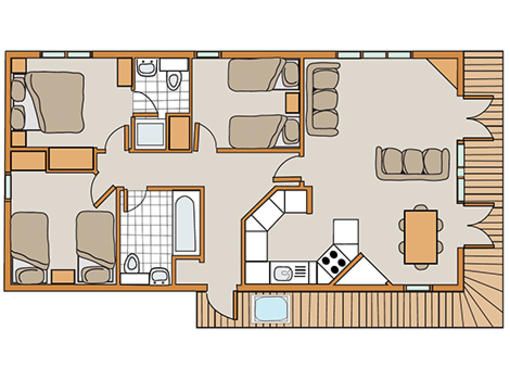 Floor plan of Haddon Classic Skyline 3 Spa