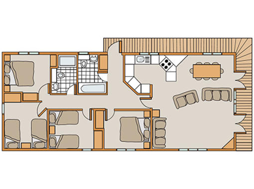 Floor plan of Haddon Classic Skyline 4