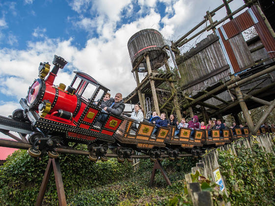 Runaway train at Alton Towers