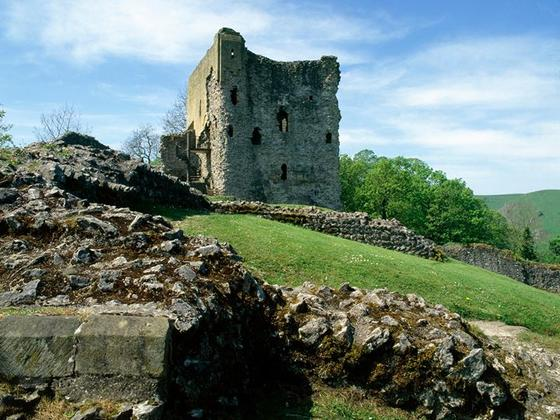Remains of Peveril castle