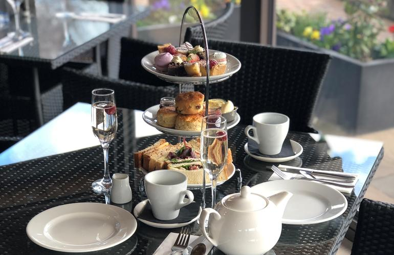 Afternoon tea at the Foresters, with a selection of sandwiches and cakes