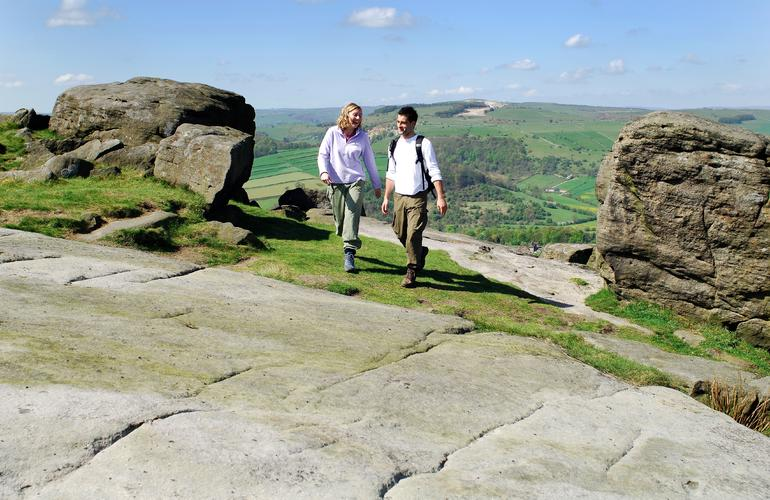 Couple walking in the Peak District