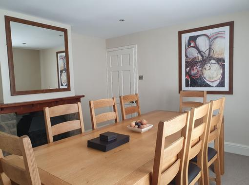 Dining room with table to seat 8 people